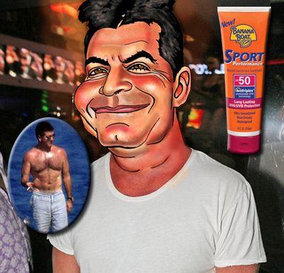 Simon needs sunscreen