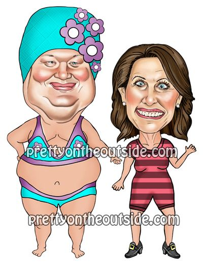 The Bachmanns in swimwear