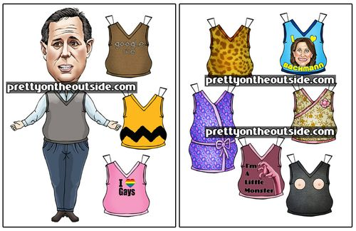 Rick Santorum paper dolls