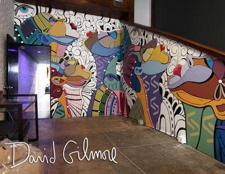 David Gilmore mural post